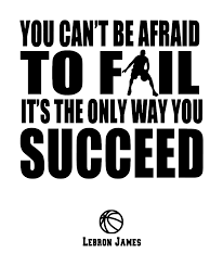 Toss Your Room Into Sports Decor Effect With This Lebron James Success Quote You Can T Be Afra Basketball Quotes Basketball Quotes Inspirational Sports Quotes