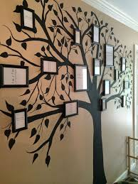 painted family tree on wall hand