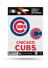 Chicago Cubs 3pk Auto Decal Blue 7141320