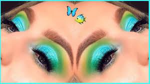 green blue bright eyeshadow tutorial
