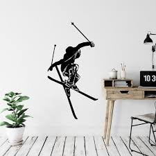 Freestyle Skiing Wall Decal Sticker Winter Sports Wall Decal Mountain Decor Skiers Gifts Skiing Wall Decor Skier Wall Decal Sb21 In 2020 Sports Wall Decals Wall Decal Sticker Wall Decals