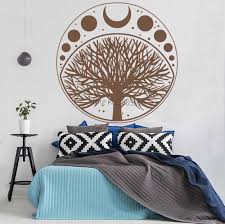 Moon Phases Cycle Tree Of Life Symbol Sticker Vinyl Wall Decal Art Home Decor Wallpaper Bedroom Wall Decoration Removable Lc1018 Wall Stickers Aliexpress