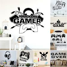 Game Machine Vinyl Wall Sticker For Game Room Kids Room Decoration School Poster Boy Bedroom Decor Accessories Mural Stickers Wall Stickers Aliexpress