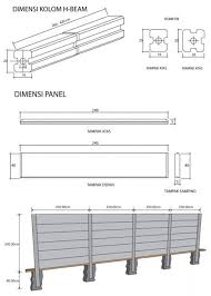 Precast Concrete Panel H Beam Column Concrete Fence Panels Modern Fence Concrete Fence