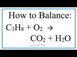 how to balance c3h8 o2 co2 h2o