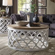 table moroccan wood round coffee table