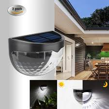 2pcs Lot Solar Fence Post Lights 6 Led Wall Light Solar Lamp Mount Decorative Home Porch Deck Lighting Outdoor Emergency Lights Outdoor Wall Lamps Aliexpress
