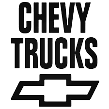 Chevy Truck Stacked Decal Sticker