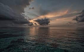 تحميل خلفيات مساء المناظر البحرية غروب الشمس بحر إيجة الغيوم