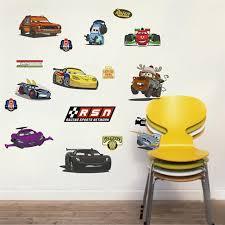 3d Effect Cartoon Cars Through Wall Stickers Bedroom Nursery Home Decor Disney Wall Decals Pvc Mural Art Diy Posters Boy S Gifts Wall Stickers Aliexpress
