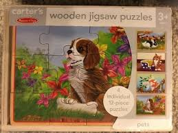 doug pets wooden chunky jigsaw puzzle