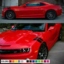 Decal Sticker Side Hood Hash Fender Stripes For Chevrolet Camaro Rally 2010 2017 Ebay