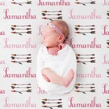 personalized name pattern baby blanket