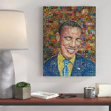 Ivy Bronx Barack Obama Acrylic Painting Print On Canvas Wayfair
