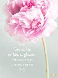 friendship is like a flower love care it flower
