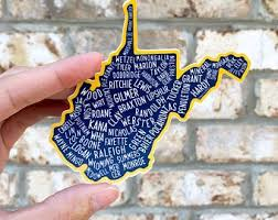 Wvu Decal Etsy