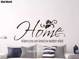 Mad World Home Where You Are Loved No Matter What Wall Art Stickers Wall Decal Home Diy Decoration Removable Decor Wall Stickers Decorative Wall Stickers Decoration Wallwall Decor Sticker Aliexpress