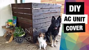 Diy Ac Unit Cover Quarantine Project How To Hide Ac Unit Gardening Corner Youtube