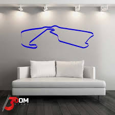 Wall Decal F1 Race Track Silverstone Buy Online