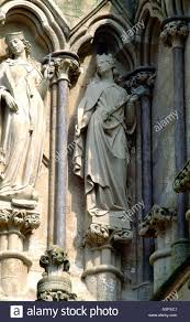 St Margaret Of Antioch & St Ursula Salisbury Cathedral West Front Stock  Photo - Alamy