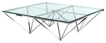 soma sq steel coffee table