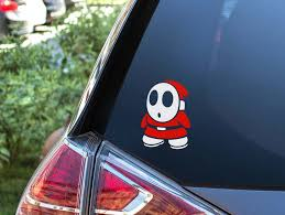 Nintendo Shy Guy Car Decal Sticker Shy Guy Vinyl Decal Etsy In 2020 Large Decal Vinyl Decals Laptop Decal Stickers