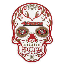Nfl San Francisco 49ers Large Skull Outdoor Decal Bed Bath Beyond