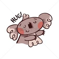 cartoon koala bear gesturing for a hug