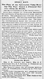 Miss Myra Ellis Maxim in Onset Bay - 1882 - Newspapers.com