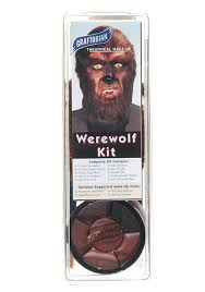 graftobian deluxe werewolf face makeup kit