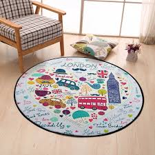 London Bus Car Printed Kids Round Carpet Cartoon Area Rug For Living Room Children Room Play Crawling Floor Mat Christmas Rugs Carpet Aliexpress