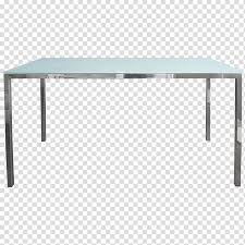 rectangular frosted glass top table