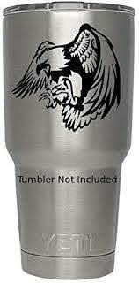 Amazon Com Eagle Bald American Black We Don T Sell Tumblers Desert Bird National Symbol Patriotic Decals For Yeti Tumblers Decal Ozark Trail Tumbler Decals 2 H X 4 W Black Kitchen Dining