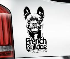French Bulldog Sticker Bouledogue Dog Car Stickers Window Decal Sign V02blk Ebay
