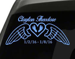 Infant Loss Decal Etsy