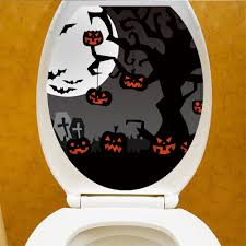 Halloween Toilet Sticker Bathroom Decal Sticker Toilet Bowl Seat Decoration Walmart Com Walmart Com