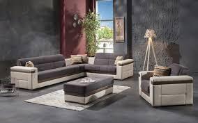 moon gray sectional chair ottoman