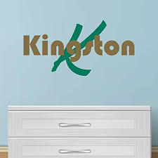 Amazon Com Boy S Custom Name And Initial Wall Decal Choose Your Own Name Initial And Letter Styles Multiple Sizes Baby Wall Stickers For Boys Wall Sticker Decor Boy S Name Wall Decal Sticker Vinyl