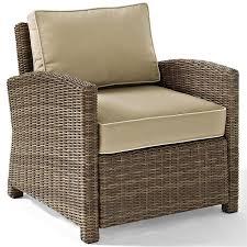 crosley bradenton wicker patio chair in