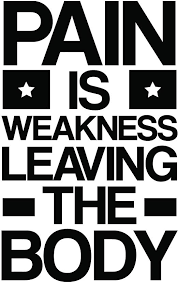 Amazon Com My Vinyl Story Pain Is Weakness Leaving The Body Motivational Large Gym Wall Decal Quote For Home Gym Yoga Exercise Fitness Workout Motivational Wall Art Decor Vinyl Removable Sticker