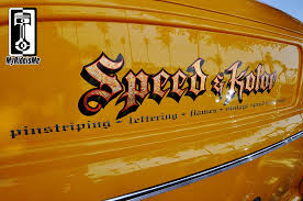 custom pinstripes and lettering from