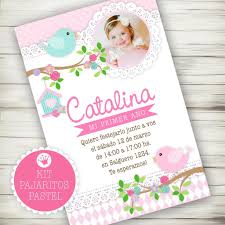 Kit Imprimible Pajaritos Pastel Decora Tu Cumple