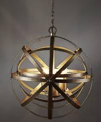 gyroscope orb pendant light large