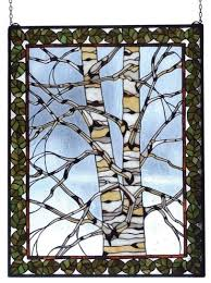 winter stained glass window