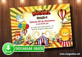 Invitacion Circo Para Imprimir Gratis Mega Idea