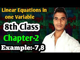 one variable class 8 maths chapter 2