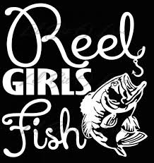 Reel Girls Fish Vinyl Decal Sticker Fishing Car Truck Vehicle Auto Lilbitolove On Artfire