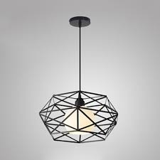 globe pendant light with wire frame
