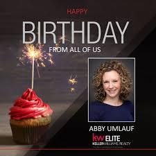 Happy Birthday Abby Atwell Umlauf! We... - Keller Williams Realty Elite |  Facebook