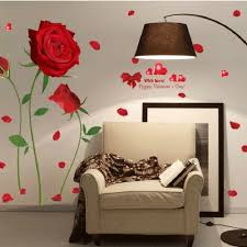 Red Rose Wall Decal Mural Removable Flowers Stickers Vinyl Art Diy Home Decor Wish